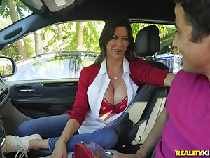 Long legged MILF bombshell Alexis Fawx devours locate and fucks