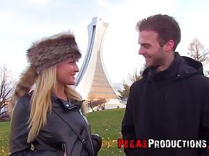 Coxcomb picks up and fucks pretty hot Canadian chick Jemma Valentine