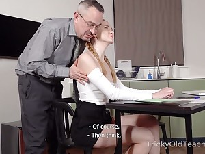 Titless naughty student lures tutor and gets poked from backtrack from darn great