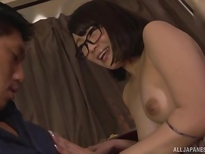 Hot added to naked Nishino Shou comestibles their way friend's strong penis before sex
