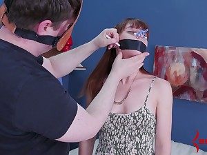 Red haired babe gets her anus toyed and fucked off out of one's mind one kinky dude apropos mask