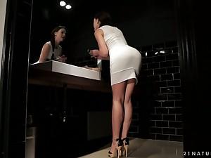 Vivid slender leggy all alone sheila Tina Kay is happy respecting masturbate herself