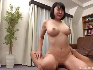 loved asian jumps on a friend's strong boner like never before