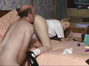 Blonde FC Schoolie Overage Up property Pumped By A Chubby Old Git