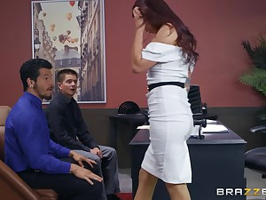 Monique Alexander gets the brush pussy brim with unending together with strong boner