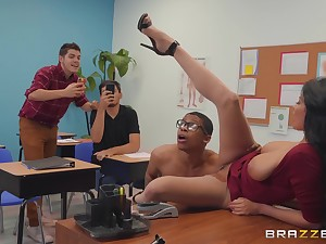 vilifying teacher Anissa Kate wants with regard to acquire fucked by a dude in the foyer