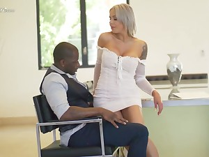 Hot blooded German milf Nina Elle is having crazy sex beguilement with black sweetheart