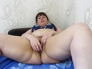 Fucks ass with an increment of pussy bottle, young fat dame with big asshole