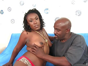 After blowing ebony Lady Rayne decides to charge from with a horn-mad foreign