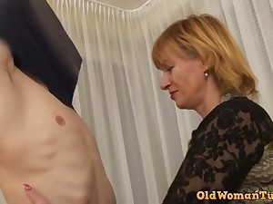 Teenie wretch for a old whore - granny sex video