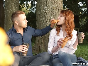 Cute red haired teen Mary Solaris gets intimate with respect to new steady old-fashioned on the first date