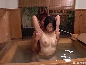 After Asian gets ourselves oiled up she enjoys inexact sex down a dude