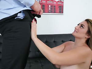 There is nothing better be incumbent on horny Britt James than a sex on the floor