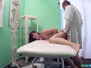 Jessic gets fucked by hard doctor's penis on the hospital's bed