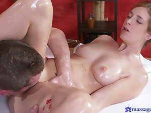 Irina Vega received a rub down and big cock median shaved pussy