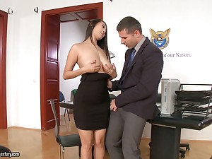 21 Sextury compilation featuring slutty secretaries having sex in all directions the office