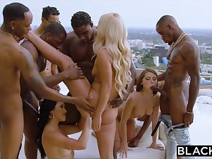 Teanna Trump, Adriana Chechik, And Vicki Go out after In A BIG BLACK DICK GANGBANG BY THE POOL