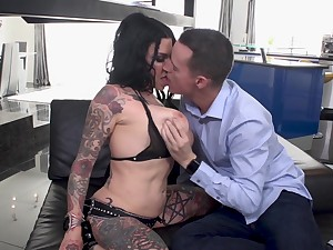 Extreme cock riding session with tattooed bitch Jenevieve Hexxx