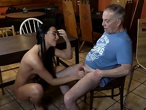 Elderly young slave and mistress feet first time Can you